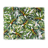 Marta Barragan Camarasa Palm leaves paradise Throw Blanket