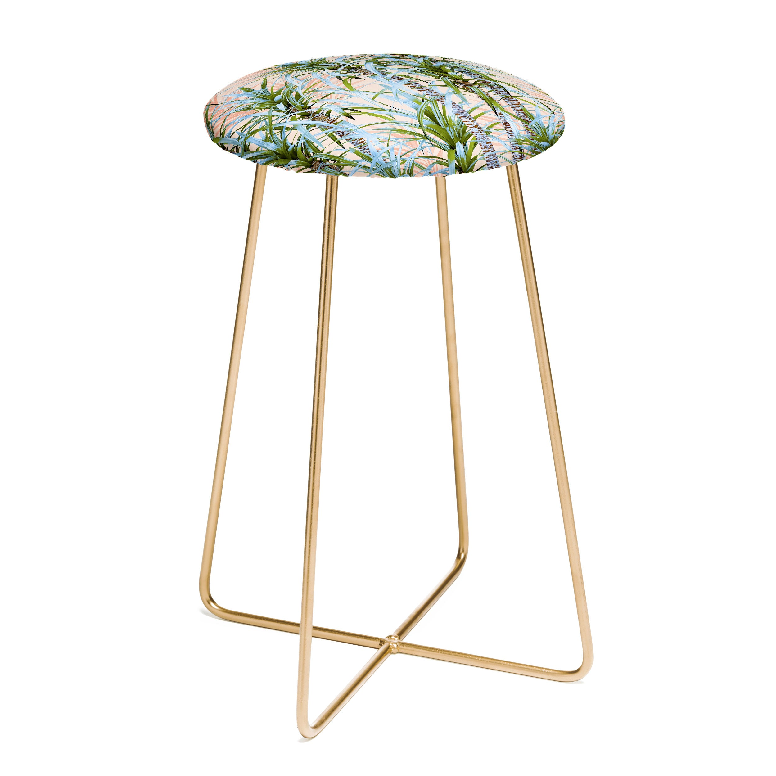 Marta Barragan Camarasa Pastel palm trees Counter Stool
