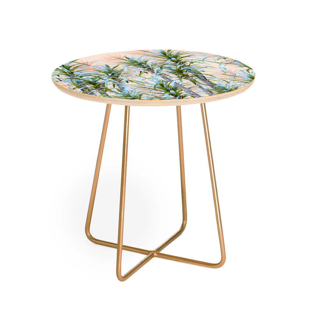 Pastel Side Table ~ Marta barragan camarasa pastel palm trees round side table