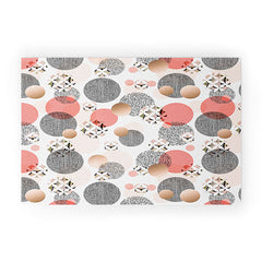 Marta Barragan Camarasa Pattern of textured circles Welcome Mat