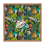 Marta Barragan Camarasa Simple dark jungle drawing Square Tray