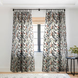 Marta Barragan Camarasa Winter palm trees Sheer Window Curtain