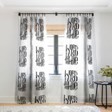 Matthew Taylor Wilson WORK HARD BE HUMBLE Sheer Window Curtain