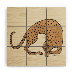 Megan Galante Cheetah Wood Wall Mural