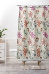 Megan Galante Monday Floral Shower Curtain And Mat