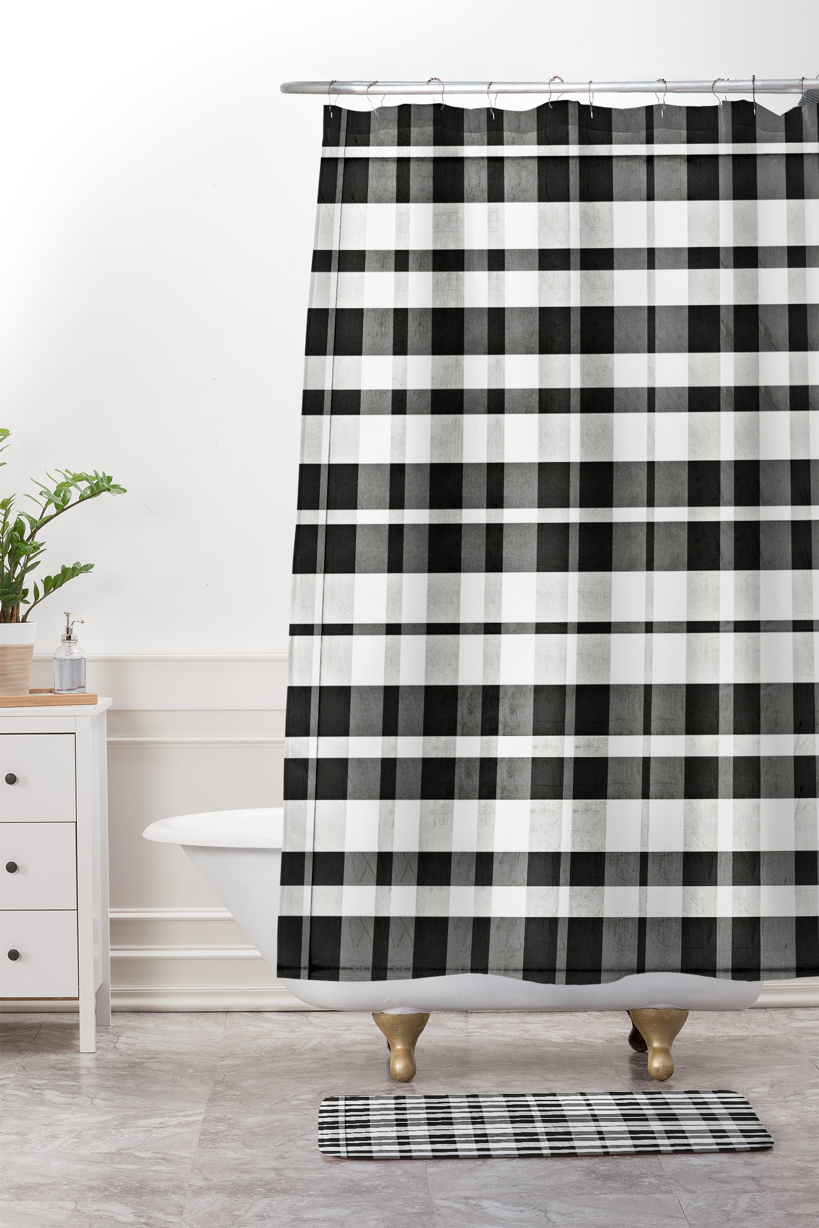 Shower Curtain And Mat By Monika Strigel