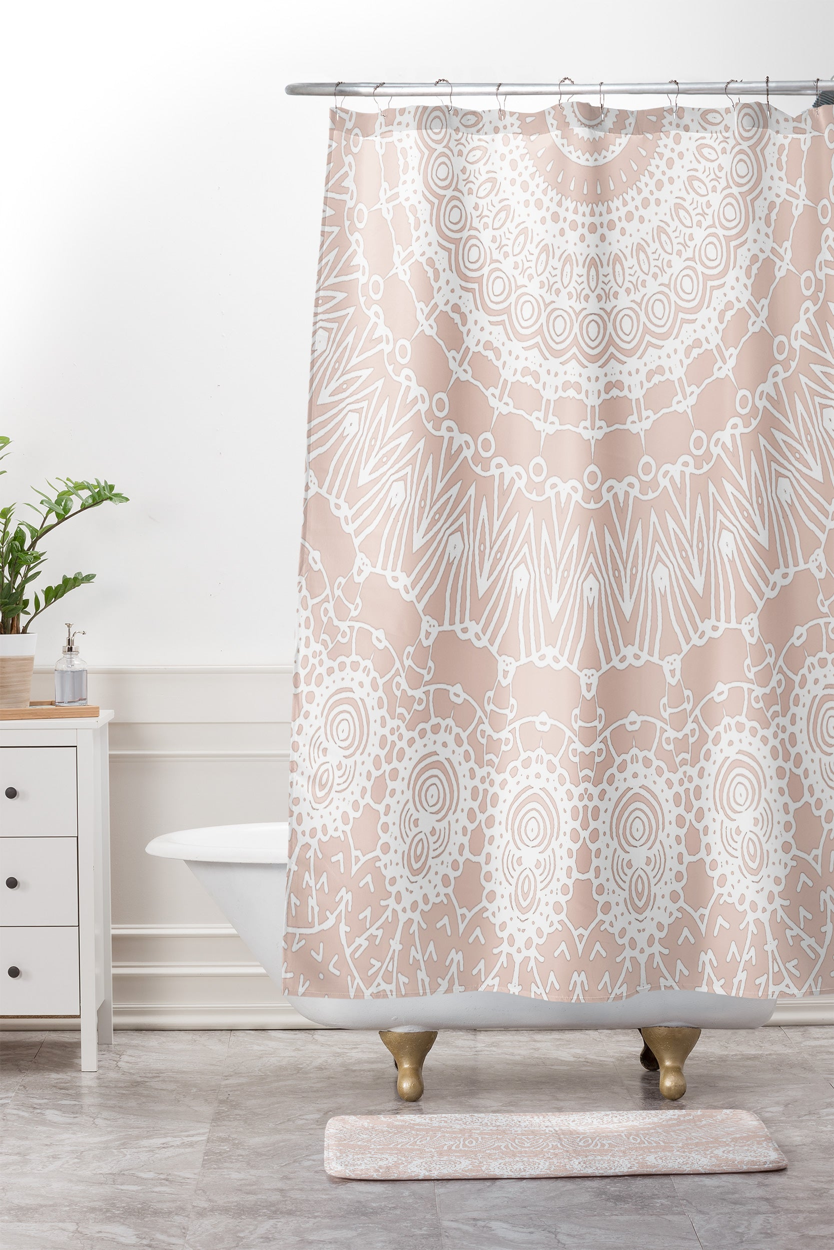 Monika Strigel WAITING FOR YOU ROSE Shower Curtain And Mat