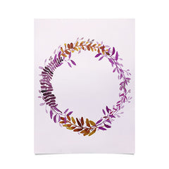 Morgan Kendall watercolor wreath Poster