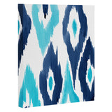 Natalie Baca Malibu Blue Ikat Art Canvas