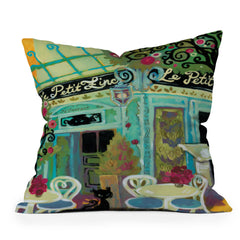 Natasha Wescoat Le Petit Zinc Throw Pillow