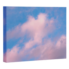 Nature Magick Cotton Candy Clouds Pink Art Canvas