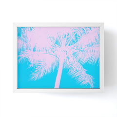 Nature Magick Palm Tree Summer Beach Teal Framed Mini Art Print