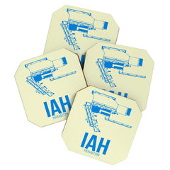 Naxart IAH Houston Poster Coaster Set