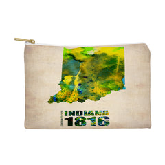 Naxart Indiana Watercolor Map Pouch