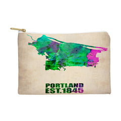 Naxart Portland Watercolor Map Pouch
