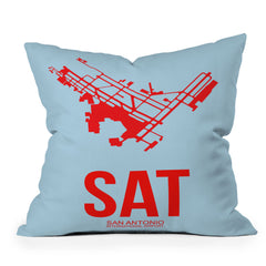 Naxart SAT San Antonio Poster Throw Pillow