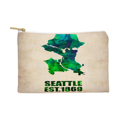 Naxart Seattle Watercolor Map Pouch