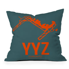 Naxart YYZ Toronto Poster 1 Throw Pillow