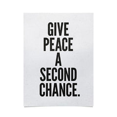 Nick Nelson Give Peace A Second Chance Poster