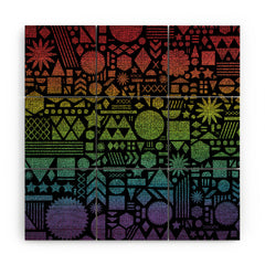 Nick Nelson Modern Elements With Spectrum Wood Wall Mural