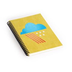 Nick Nelson Patriotic Weather Spiral Notebook