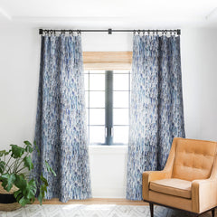Ninola Design Artistic Stripes Indigo Blackout Window Curtain