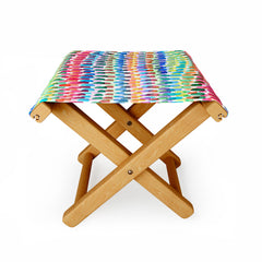 Ninola Design Artsy Strokes Stripes Color Folding Stool