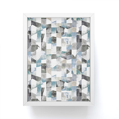 Ninola Design Collage texture Gray Framed Mini Art Print