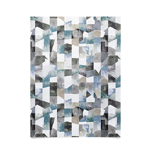 Ninola Design Collage texture Gray Poster