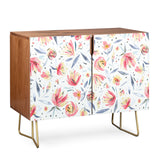 Ninola Design Holiday Peonies Soft Pink Credenza