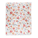 Ninola Design Holiday Peonies Soft Pink Throw Blanket