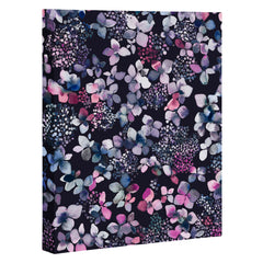 Ninola Design Hydrangea Dark Art Canvas