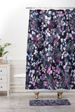 Ninola Design Hydrangea Dark Shower Curtain And Mat