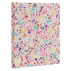 Ninola Design Multicolored Splatter Drops Painting Art Canvas