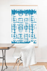 Ninola Design Shibori Checks Stripes Art Print And Hanger