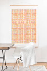 Ninola Design Shibori Plaids Checks Summer Art Print And Hanger