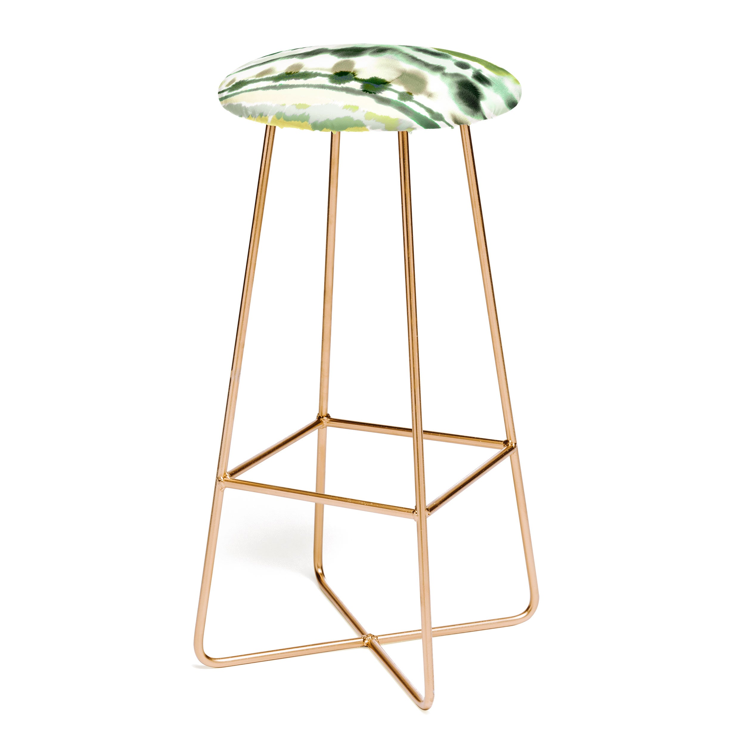 Ninola Design Soft lines tropical green Bar Stool