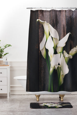 Calla Lilies Shower Curtain And Mat