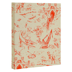 Pattern State Adventure Toile Dawn Art Canvas