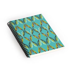 Pattern State Feather Aquatic Spiral Notebook