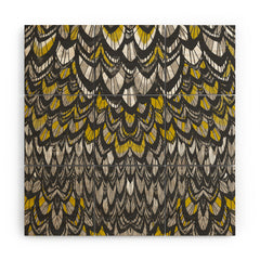Pattern State Flock Gold Wood Wall Mural
