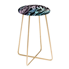 Pattern State Marble Magic Counter Stool