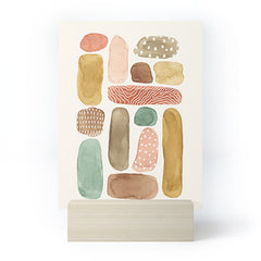 Pauline Stanley Watercolor Beach Pebbles Mini Art Print