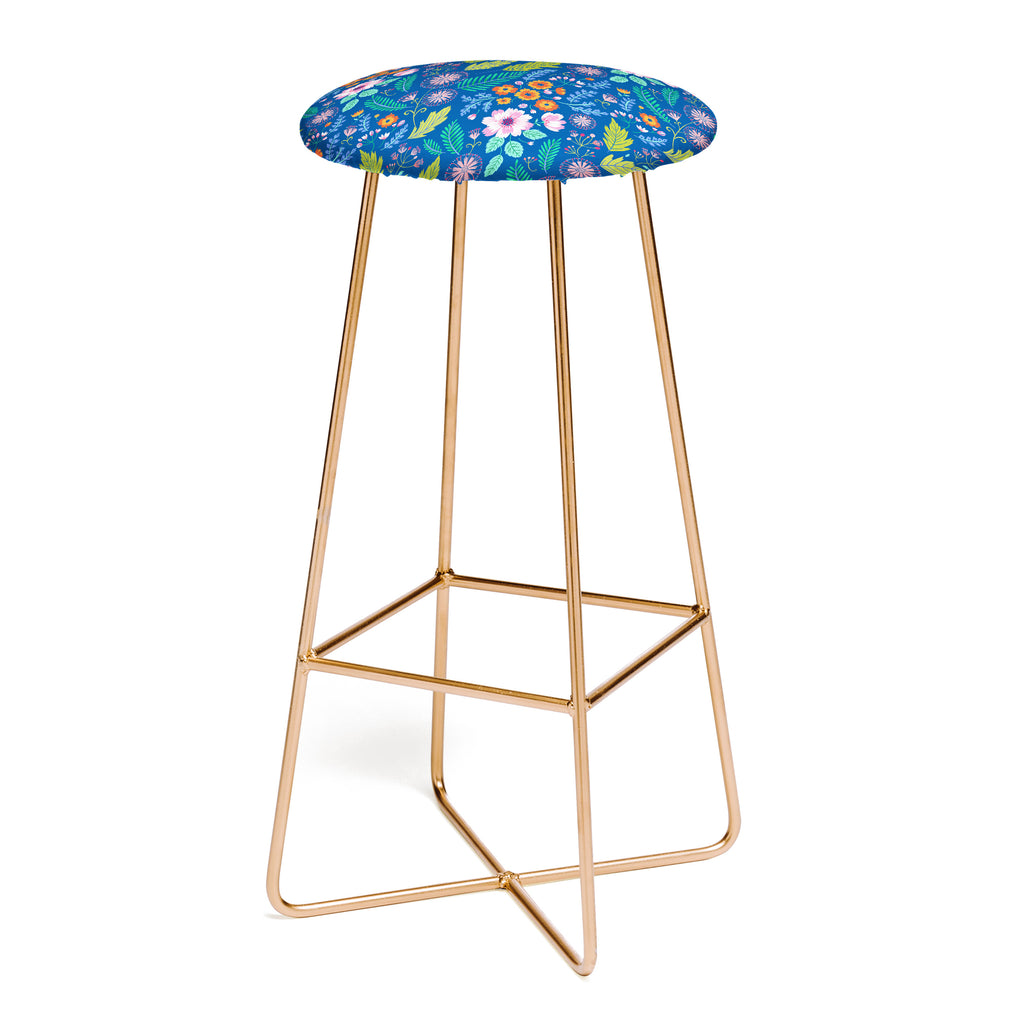 Pimlada Phuapradit Bijou Blue Bar Stool Deny Designs