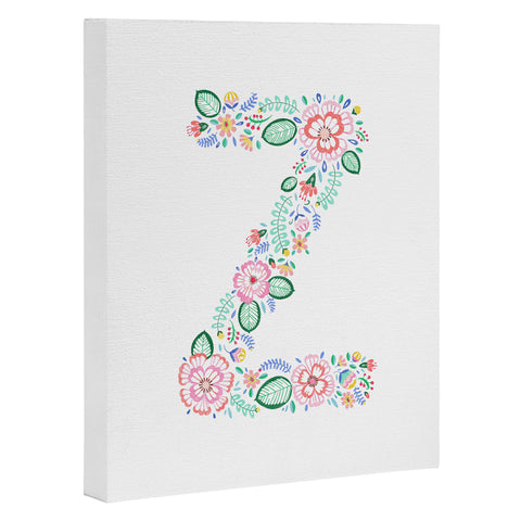 At:floral alphabet z Art Products | Deny Designs