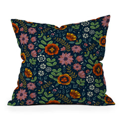Pimlada Phuapradit midnight bloom 1 Throw Pillow