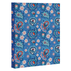 Pimlada Phuapradit Paisley floral blue Art Canvas