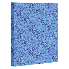 Pimlada Phuapradit Summer Floral Blue 4 Art Canvas