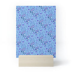 Pimlada Phuapradit Summer Floral Blue 4 Mini Art Print