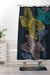 Rachael Taylor Butterfly Dance Shower Curtain And Mat